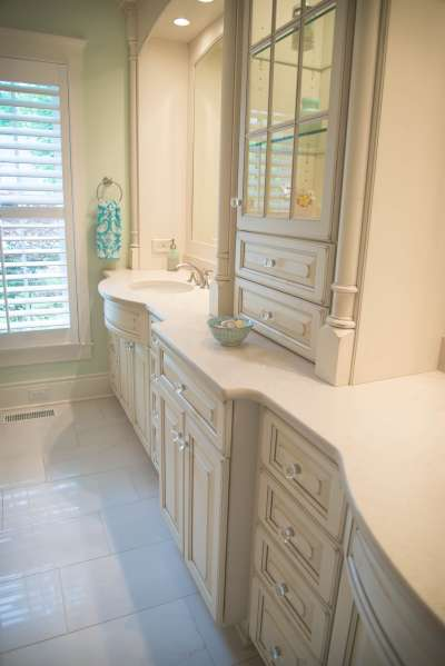 Photo Custom Bath Bathroom Winston-Salem Alan Fletcher Construction